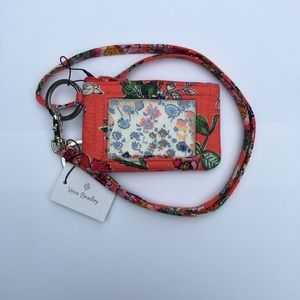 Vera Bradley quilted Id case and lanyard set new